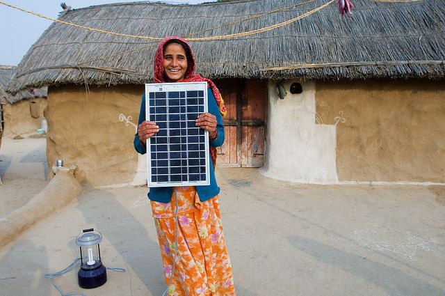 Legga village solar electrified by woman barefoot