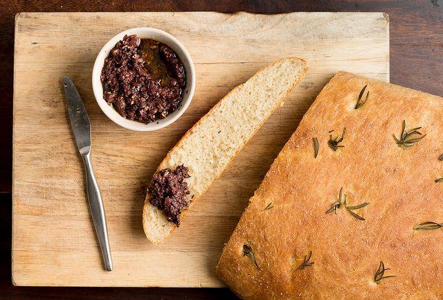Tapenade and Foccacia bread