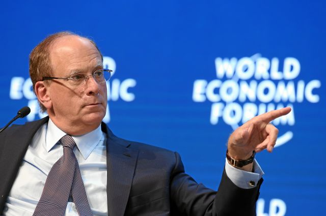 Larry Fink at WEF. (Flickr/WEF)