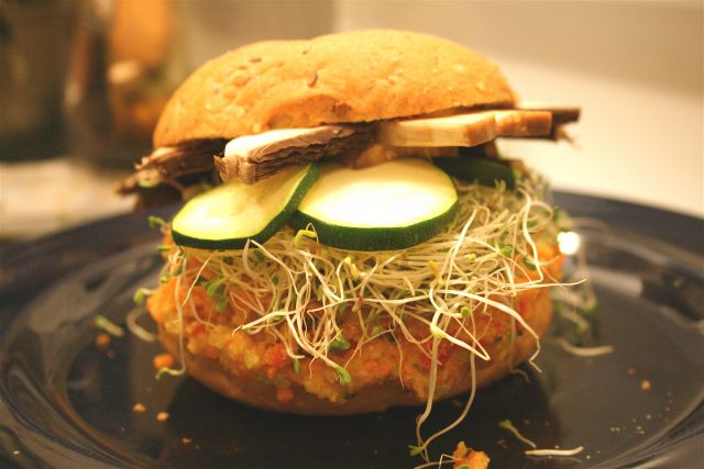 Can more plant-based meals make it onto menus, like veggie burgers have? (Flickr/Daniel Fortin)