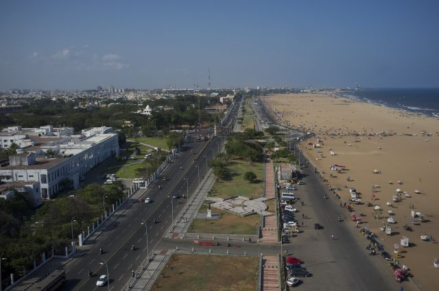 The waterfront in Chennai, Tamil Nadu. Flickr/Aleksander Zykov