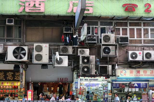 Air conditioning units in Hong Kong. Flickr/Niall Kennedy