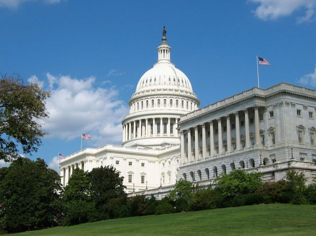 The US Capitol, where Congress just authorized investment in carbon removal. Photo by Lara Eakins/Flickr