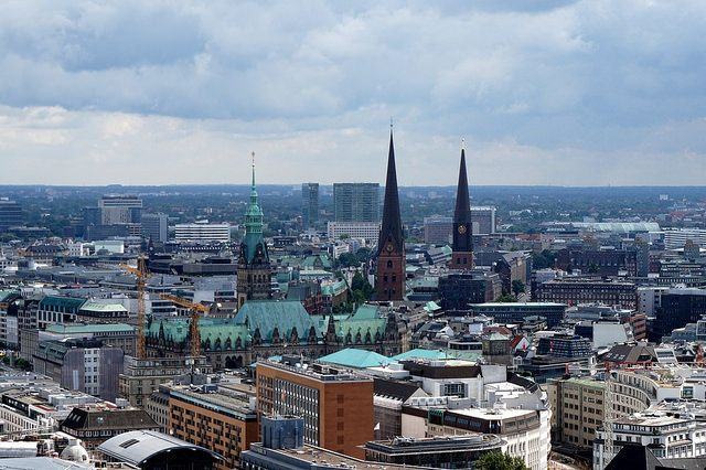 Hamburg city view from St. Michael's Church