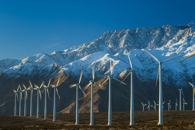 Renewable energy development in the California desert