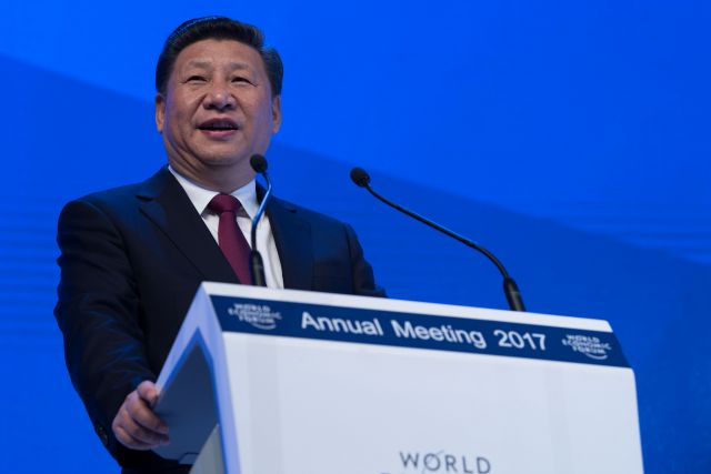 Xi Jinping at WEF. Flickr/World Economic Forum