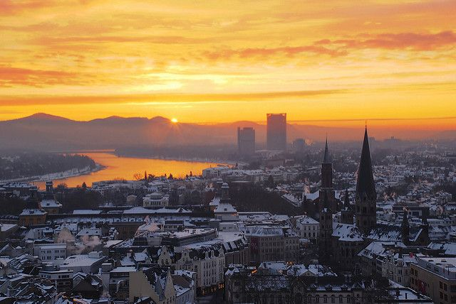 Dawn in Bonn, Germany