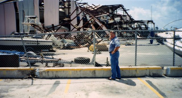 Unexpected destruction after Hurricane Andrew. Flickr/Florida Keys Public Library