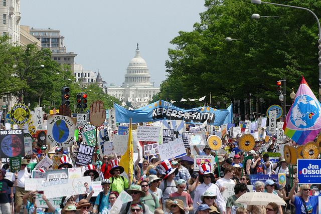 Climate March in Washington DC, April 29, 2017