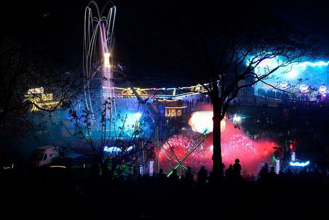 Spring fireworks festival in Bonn