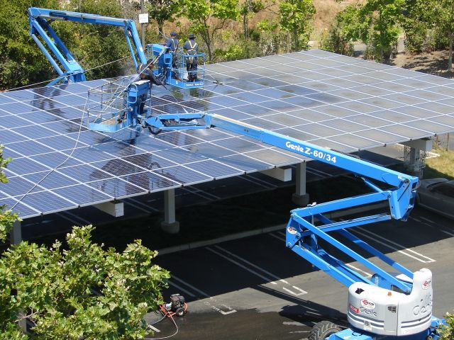 Solar panels installed at the Googleplex. Flickr/Avinash Kaushik
