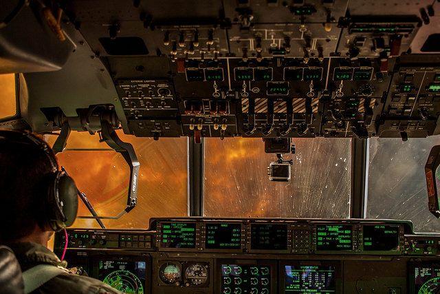 flight deck of the MAFFS 6