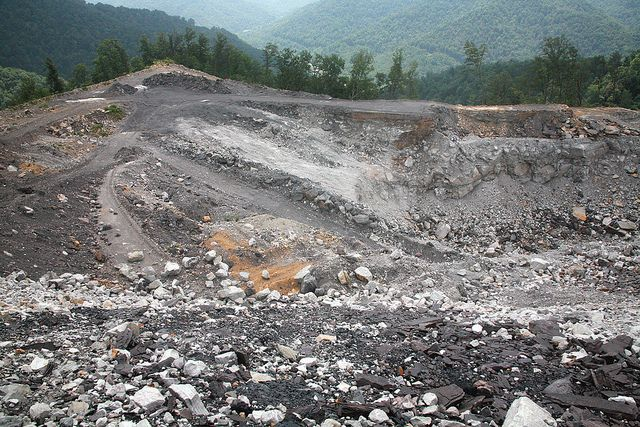 Mountain removal for coal on West Virginia's Kayford Mountain.