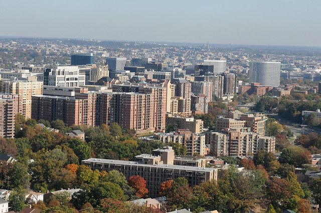 Aerial view of Arlington County
