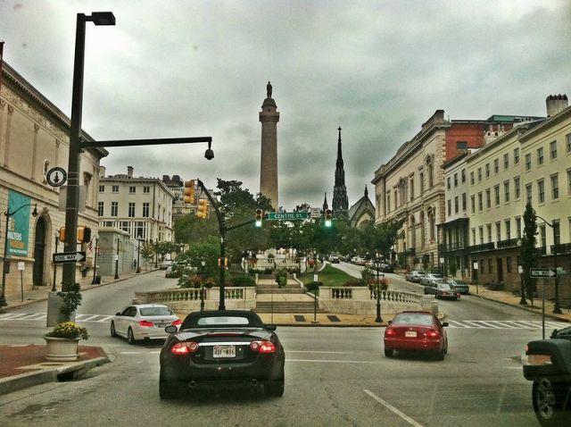 Urban trees in Baltimore's Mount Vernon neighborhood