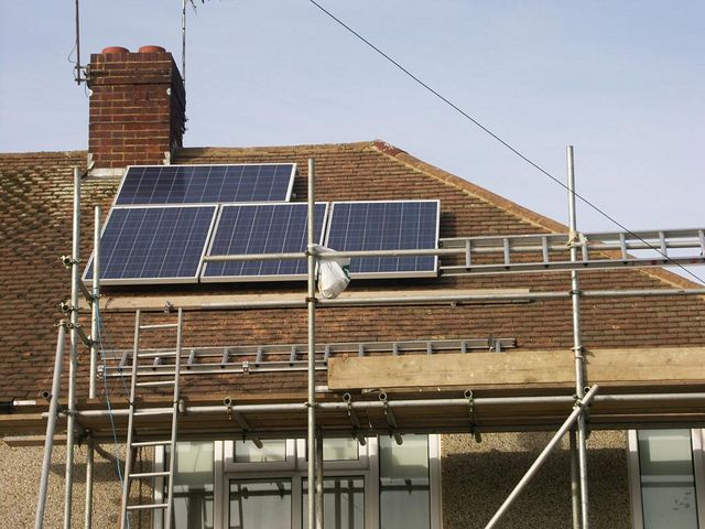 10 four panels installed from ground level