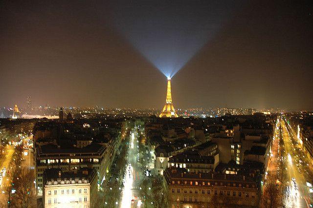 Eiffel tower light