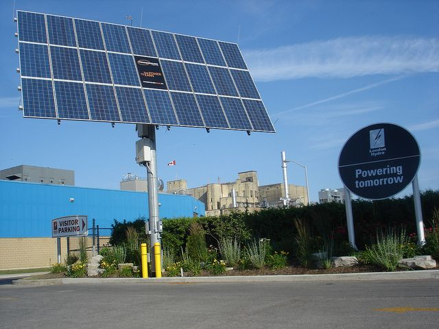 Solar panels in London, Ontario.