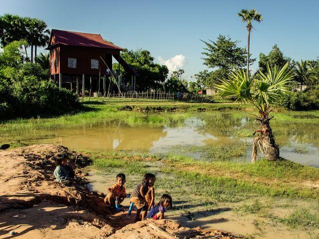 Children in Siem Reap, Cambodia