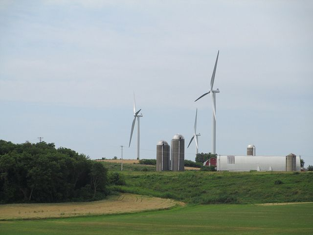 Wind turbines in Dane County, Wis.