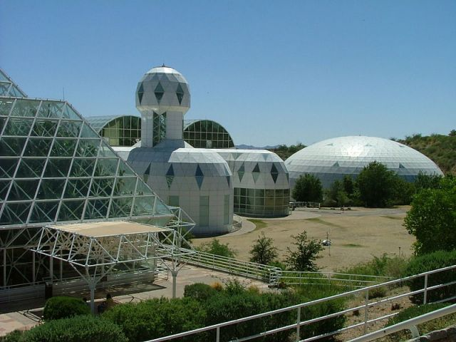 Biosphere 2 in Tucson, Arizona.