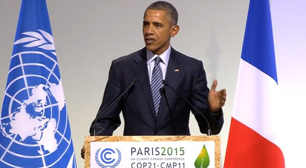 U.S. President Barack Obama at COP21 Heads of State event; credit UNFCCC