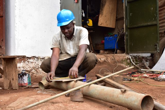 Sanitation entrepreneur in Kampala. Photo: Water for People.