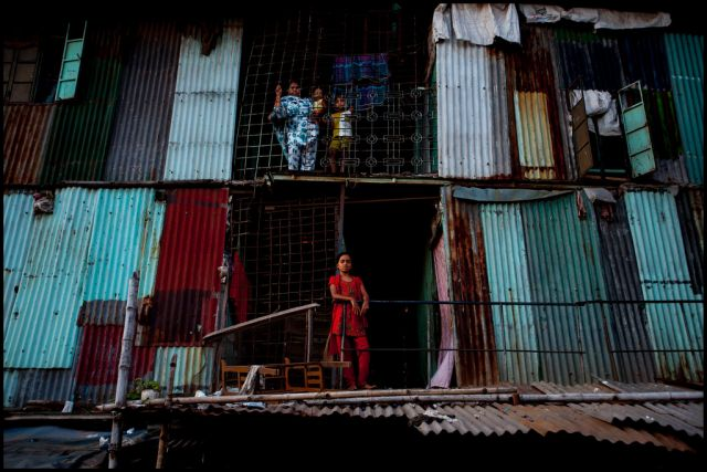 Informal housing in Dhaka, Bangladesh