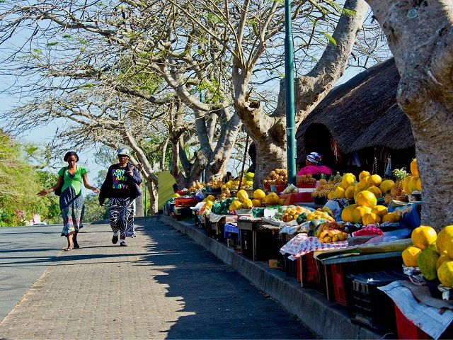 A street market in St. Lucia, South Africa. Photo by Steve Slater/Flickr.
