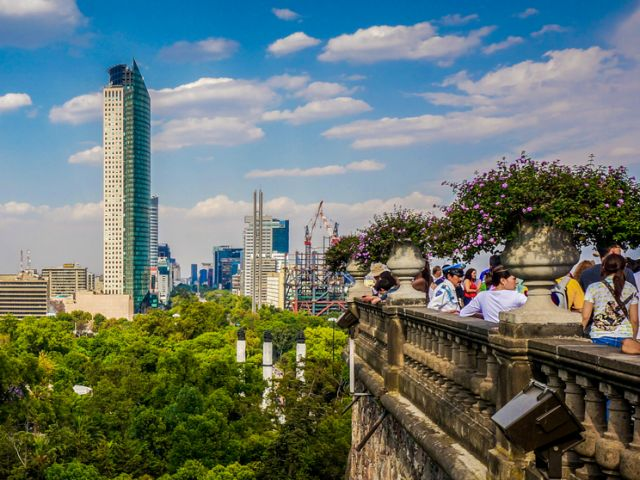 Chapultepec Castle views Mexico City