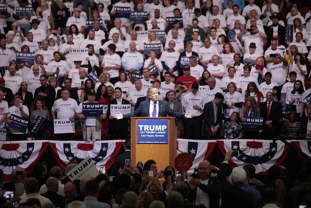 Trump supporters in Las Vegas, Nevada
