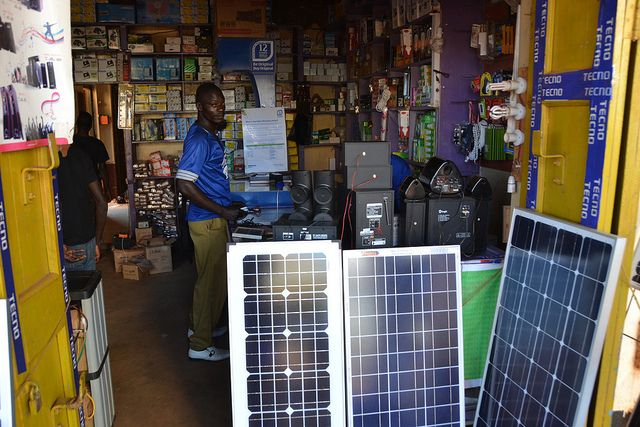 Solar speciality shop in Gulu, Uganda. Photo by James Anderson/Flickr.
