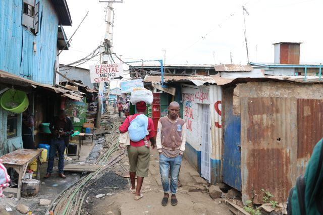 A child in Kibera, Nairobi, Kenya.