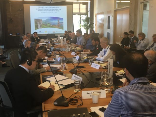 Experts at the China US High-Level Dialogue on Energy and Climate Change in San Francisco