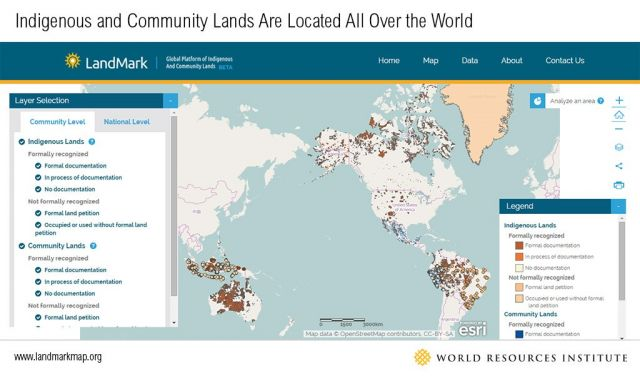 RELEASE First Interactive Global Map Of Indigenous And Community - Interactive global map