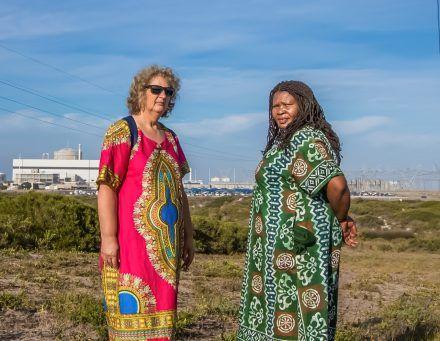 Liz McDaid and Makoma Lekalakala. Photo: Goldman Environmental Prize