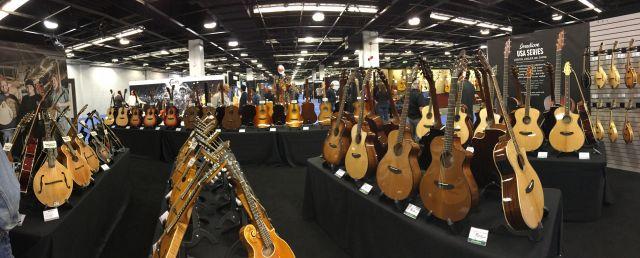 Guitars on display