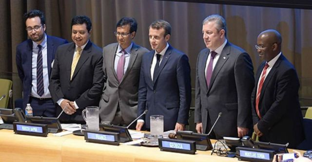 Manish Bapna, third from left, with OPG leadership. Source: Facebook.com/opengovernmentpartnership