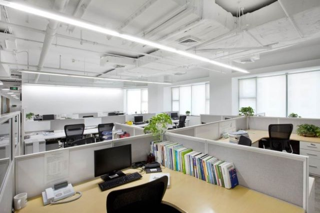 open layout office. China Office - Open Layout E