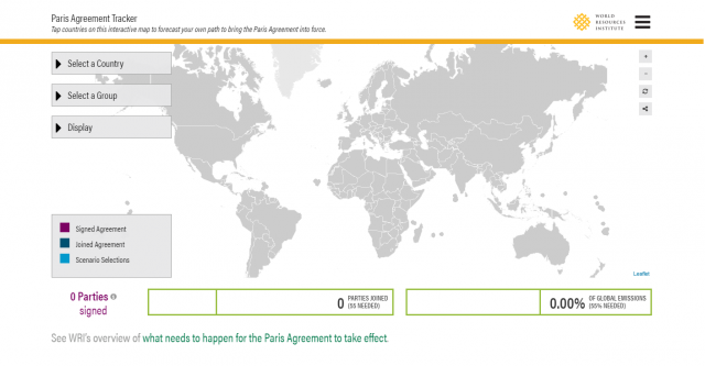 When Could the Paris Agreement Take Effect? Interactive Map Sheds ...