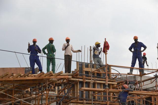 Construction in Kampala, Uganda
