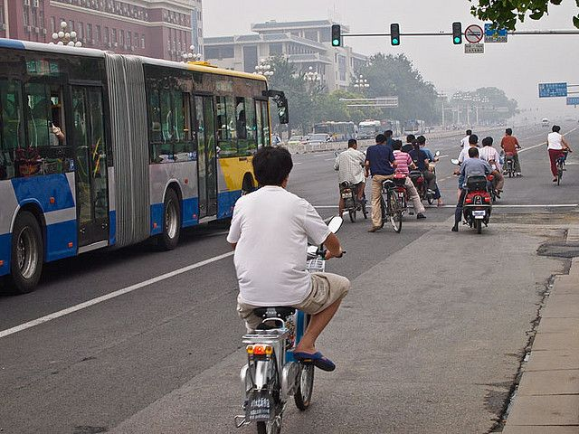 Beijing bicyclists. Photo Credit: Derrick Story/Flickr