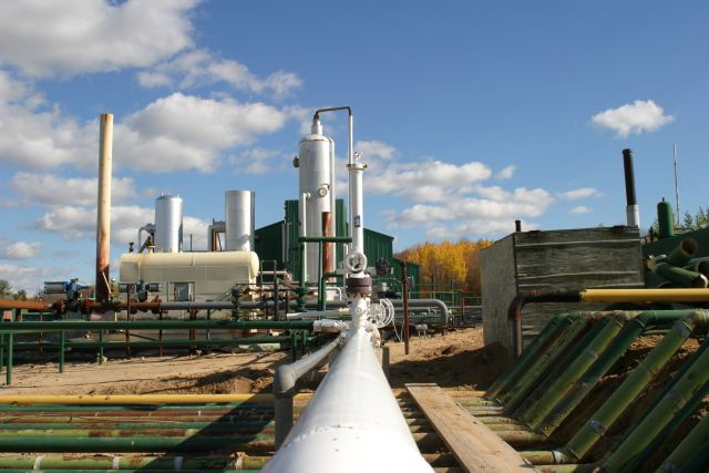 CO2 removed from the air can be used to extract oil, like at this Michigan facility. Photo by U.S. Department of Energy/Flickr.