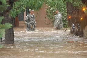 Businesses are waking up to the risks water can pose to their operations and bottom line. (Credit: The National Guard/Flickr).
