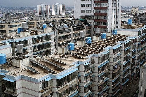 Rooftop solar panels in China