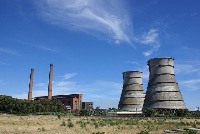 A coal-fired power plant in Cape Town, South Africa. Photo credit: Danie van der Merwe, Flickr