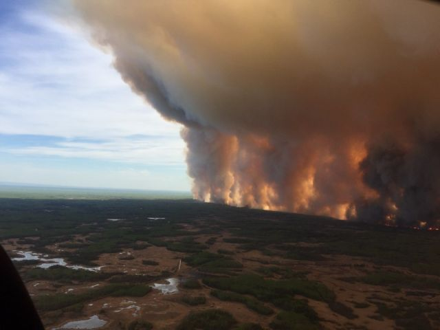 Cuckegg Creek Fire in Alberta, Canada