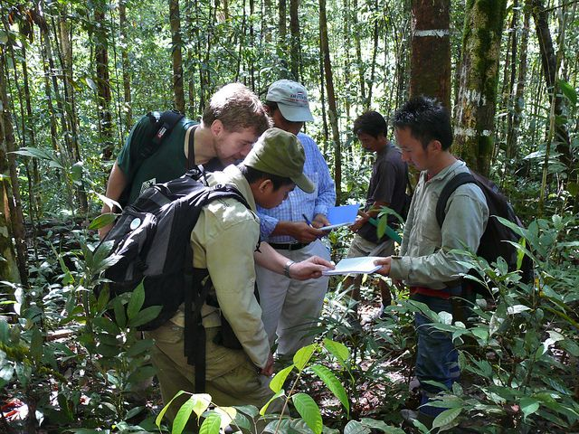 A team of researchers in North Kalimantan, Indonesia. Photo by Douglas Sheil/Center for International Forestry Research