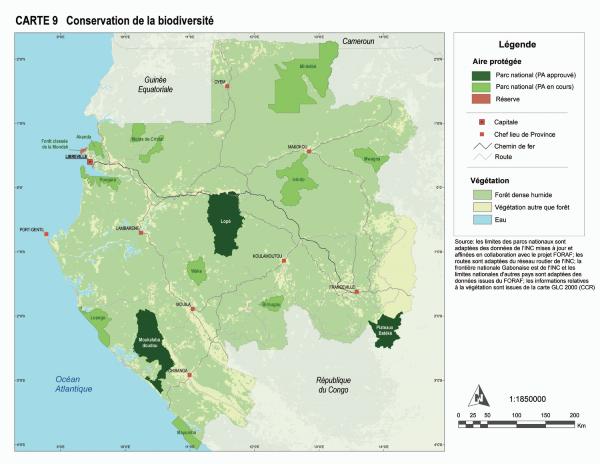 Gabon World Map.Gabon Conservation De La Biodiversite World Resources Institute