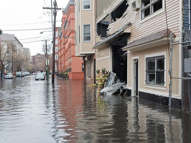 Flooding in Hoboken, New Jersey. Photo by David Pfeffer/Flickr